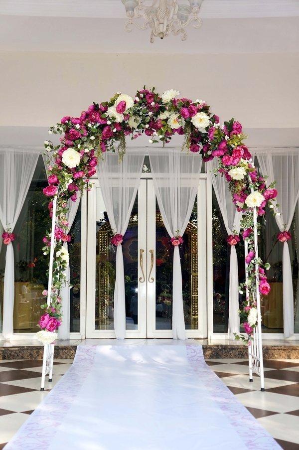 Các loại cổng đám cưới đẹp, độc, lạ - cong hoa lua