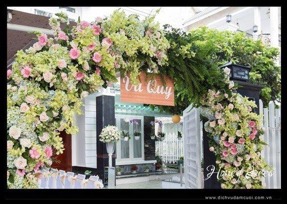 Các loại cổng đám cưới đẹp, độc, lạ - cong hoa tuoi