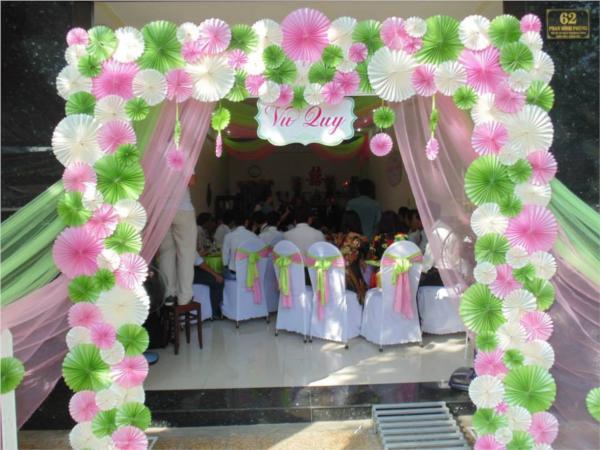 Các loại cổng đám cưới đẹp, độc, lạ - conghoagiay