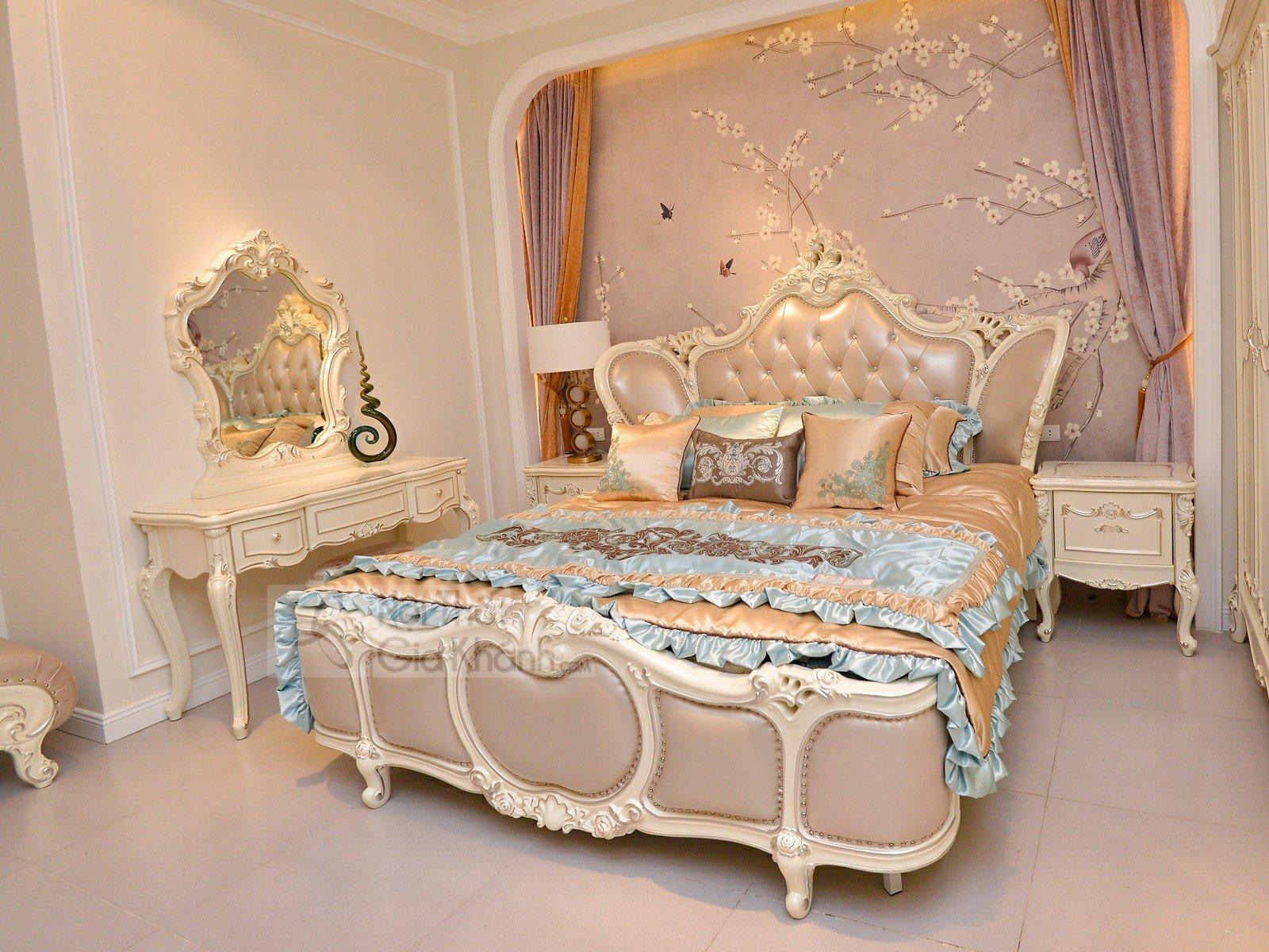 Giường Ngủ Tân Cổ Điển Đẹp Nhập Khẩu GI8818H