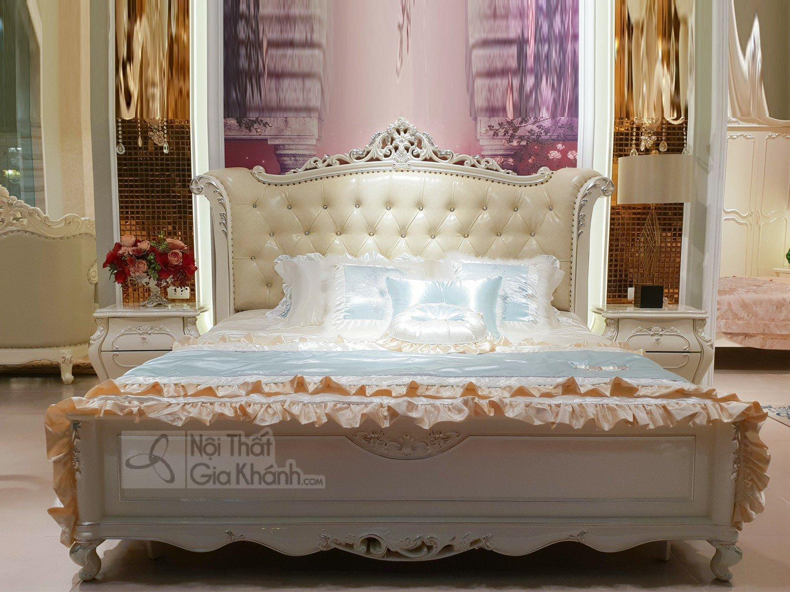 Giường Ngủ Gỗ Sồi Phong Cách Hoàng Gia H8832Al - giuong ngu tan co dien H8832AL