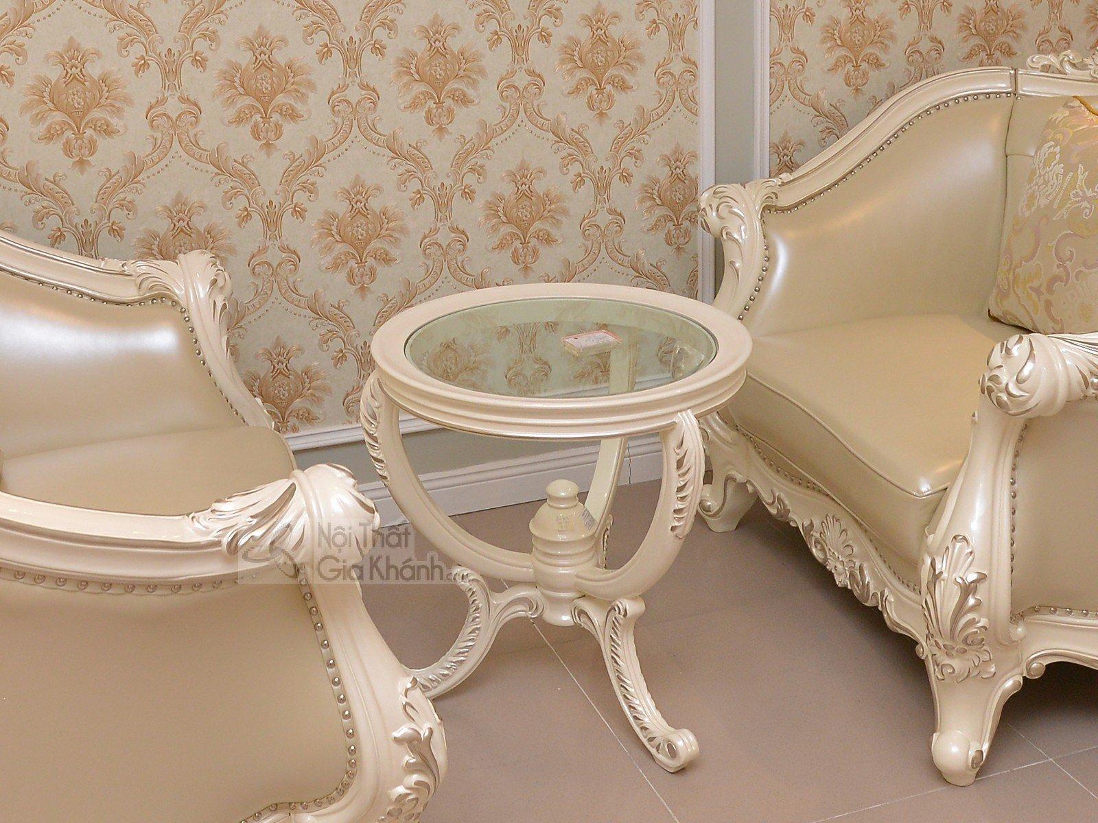 Bàn trà (Bàn Sofa) tròn nhỏ xinh tân cổ điển H8801BTG