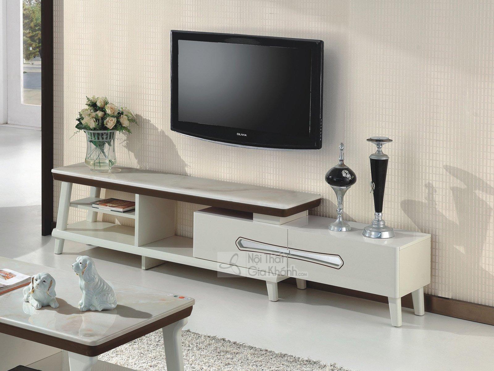 Kệ tivi phòng khách hiện đại gỗ công nghiệp mặt đá đa năng HD5730-2 - hd5730 2