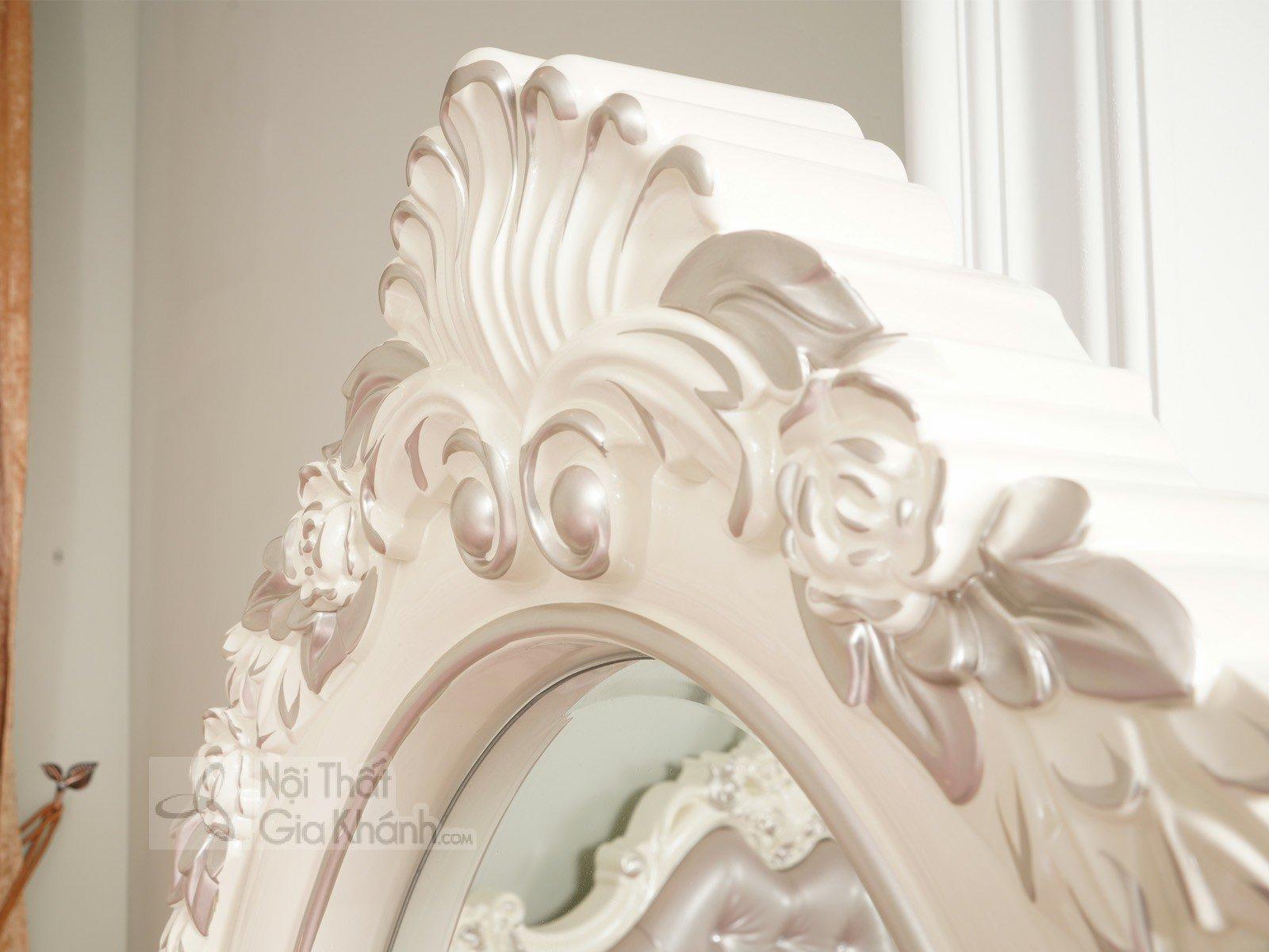 Kệ gương đứng độc đáo, phong cách Pháp H8801KG - ke guong dung phong ngu tan co dien H8801KG 695x70x1720 4