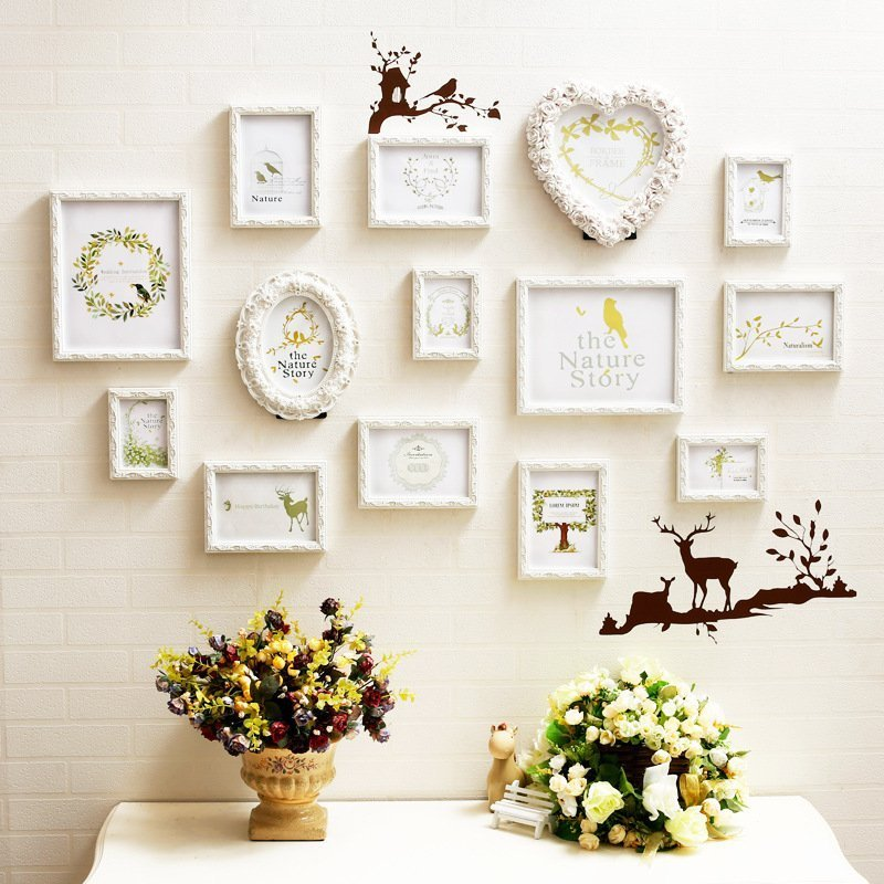 10 mẫu khung ảnh trang trí phòng cưới đẹp cho phòng cô dâu chú rể