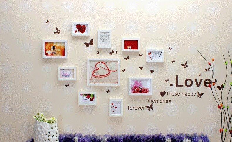 10 mẫu khung ảnh trang trí phòng cưới đẹp cho phòng cô dâu chú rể - khung anh trang tri phong cuoi 5