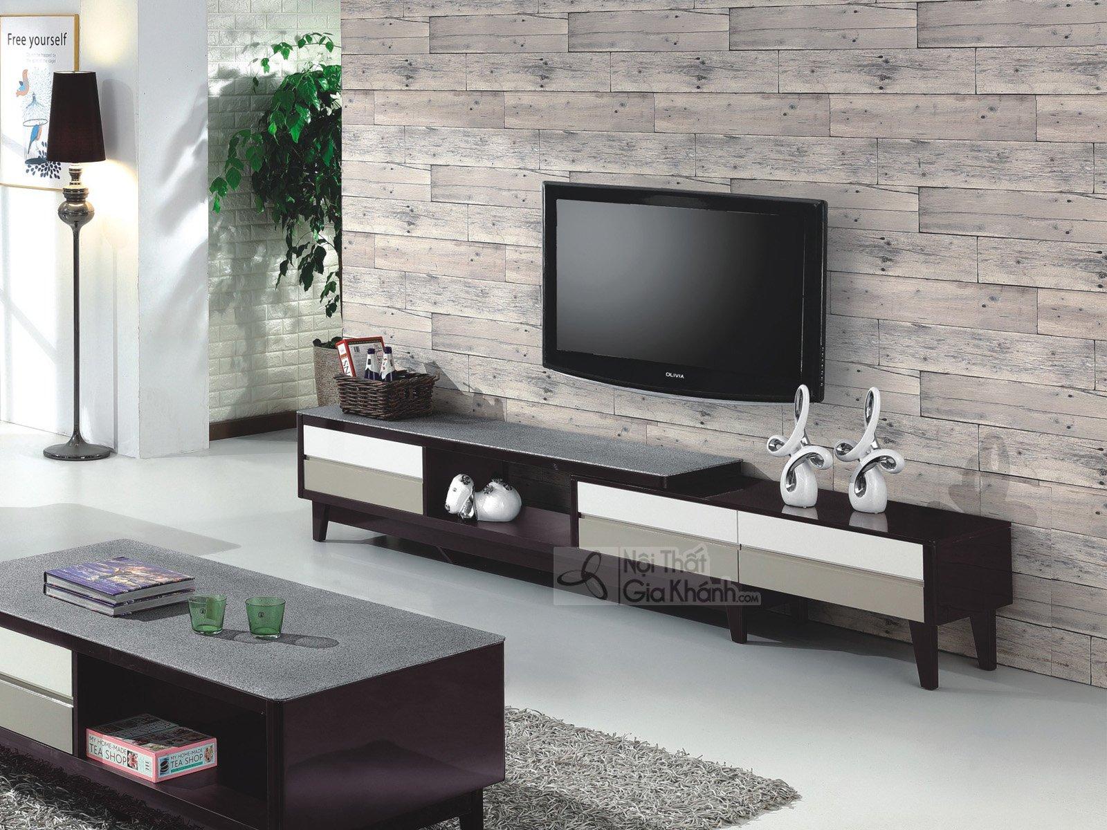 Xem ngay kích thước kệ tivi gỗ hiện đại và tân cổ điển chuẩn mới 2019 - kich thuoc ke tivi bang go