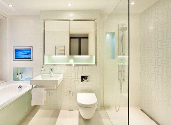 Một vài cách bố trí phòng tắm