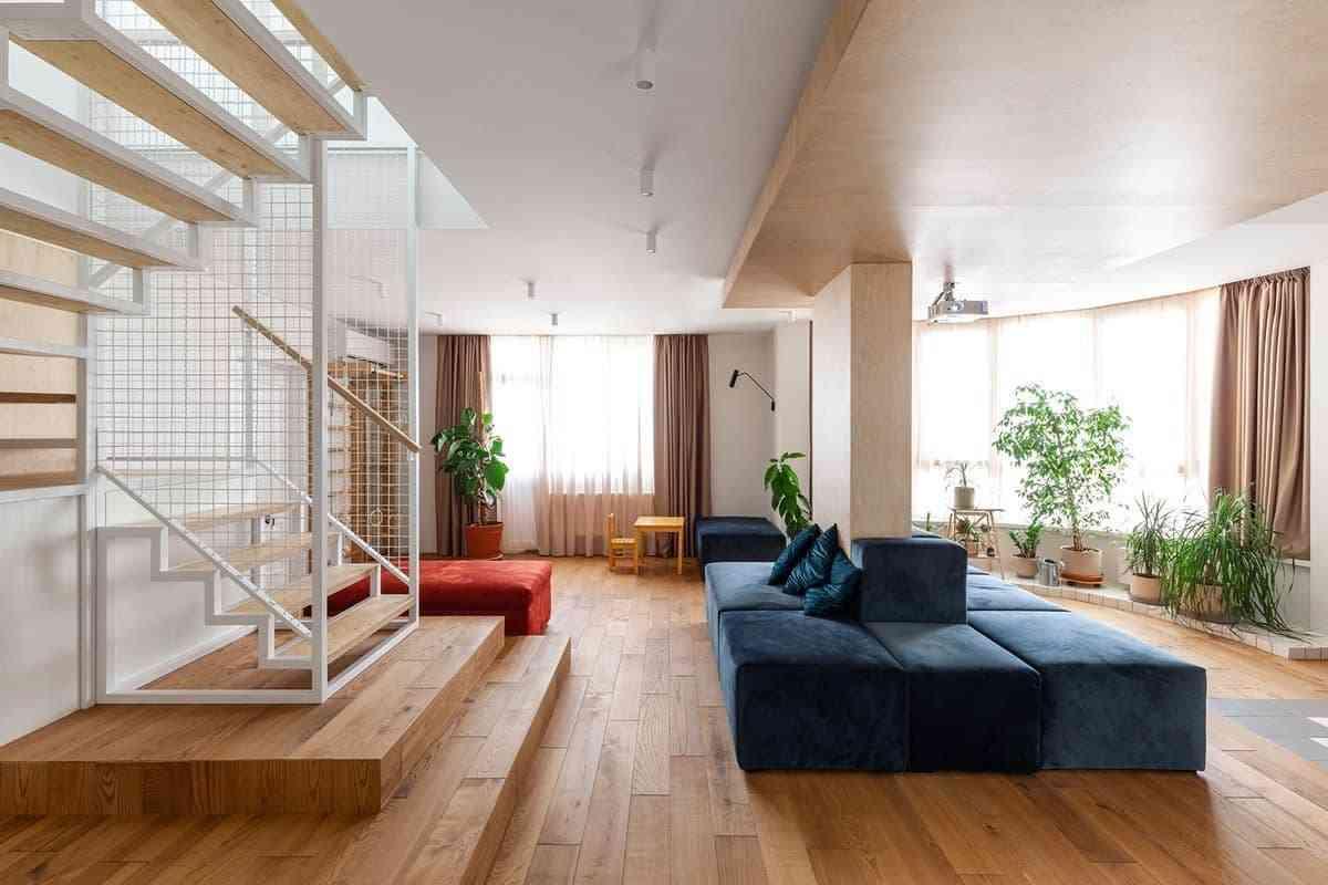 Thiết kế không gian nội thất rộng với 190m2 - noi that 19