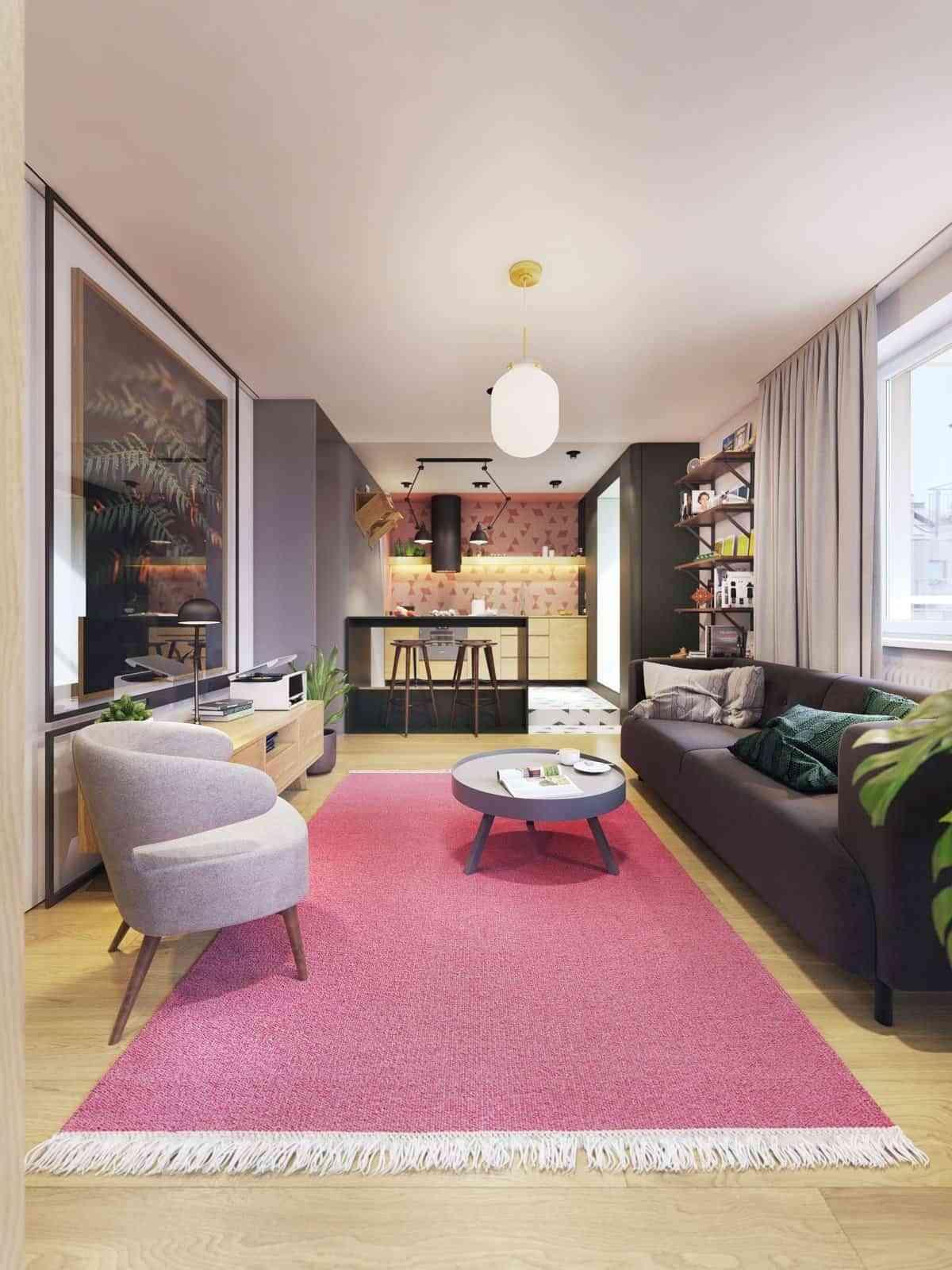 Thiết kế căn hộ studio hiện đại và sáng tạo - noi that 30