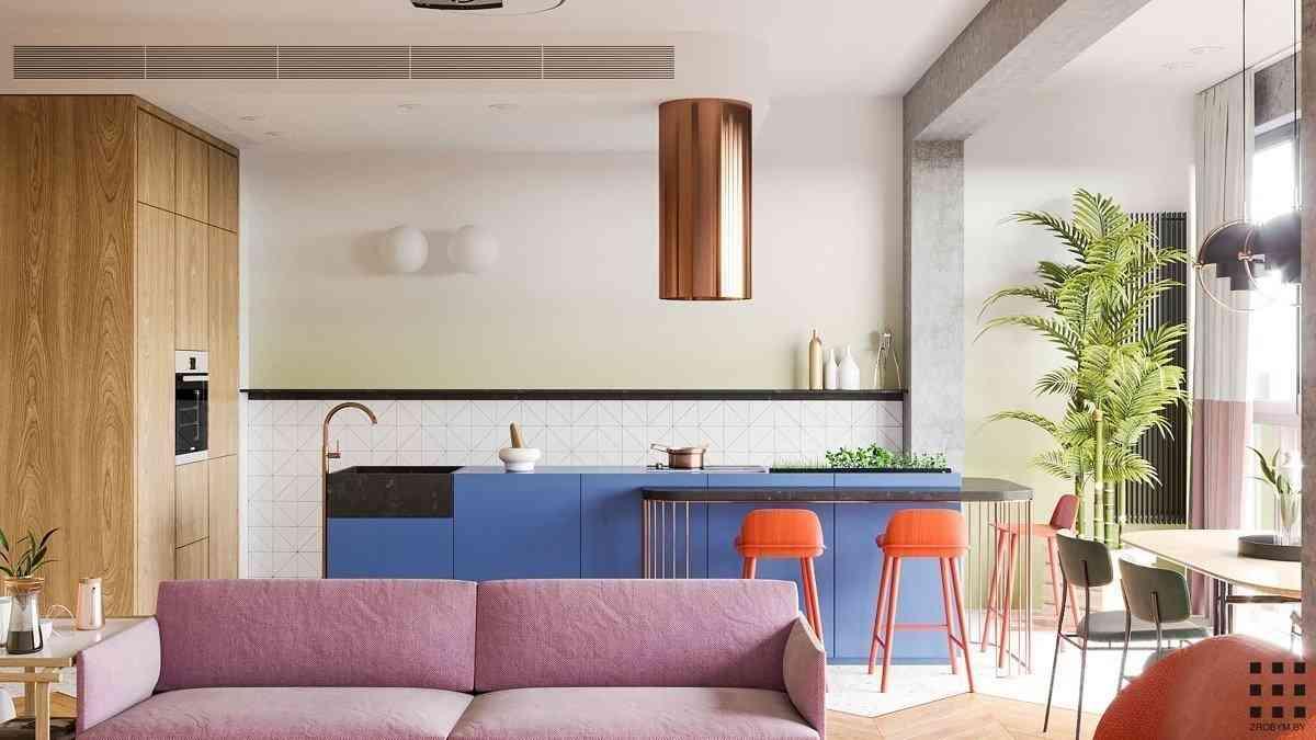 Ngôi nhà hiện đại đầy màu sắc cho các cặp vợ chồng trẻ - noi that hien dai 3
