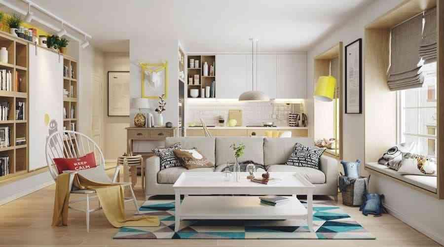 Thiết kế nội thất phòng khách - noi that nha o 7 1