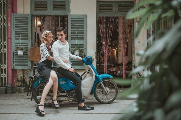 Phong cách chụp ảnh cưới vintage - phong cach vui tuoi