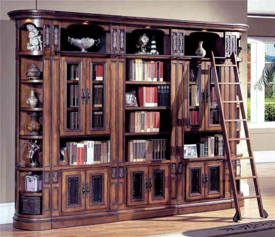 Top 5 tủ sách tân cổ điển đẹp - showroom noi that nhap khau Antique Bookcases With Glass Doors Ideas