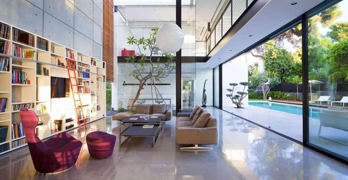 Tủ sách cho phòng khách sang trọng - showroom noi that nhap khau Contemporary bookcase