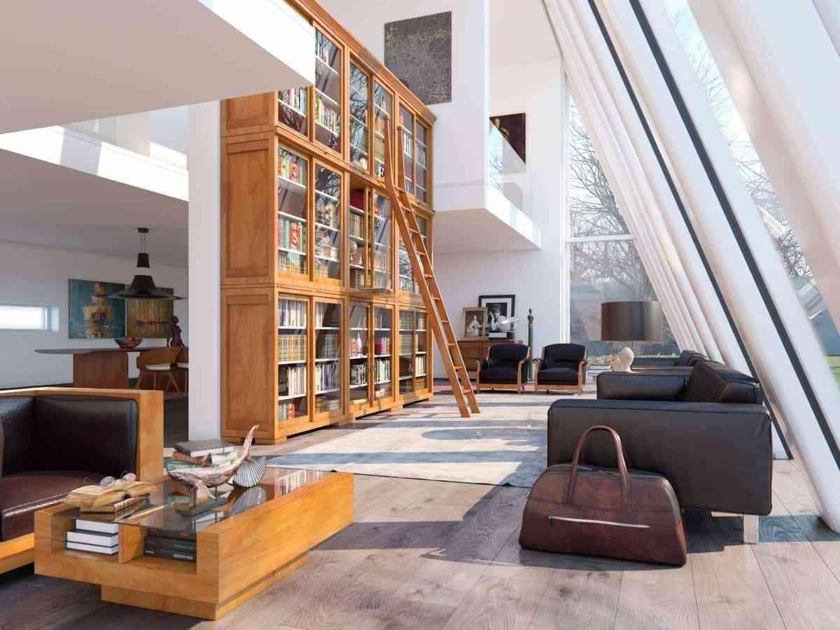 Tủ sách cho phòng khách sang trọng - showroom noi that nhap khau Huge bookcase
