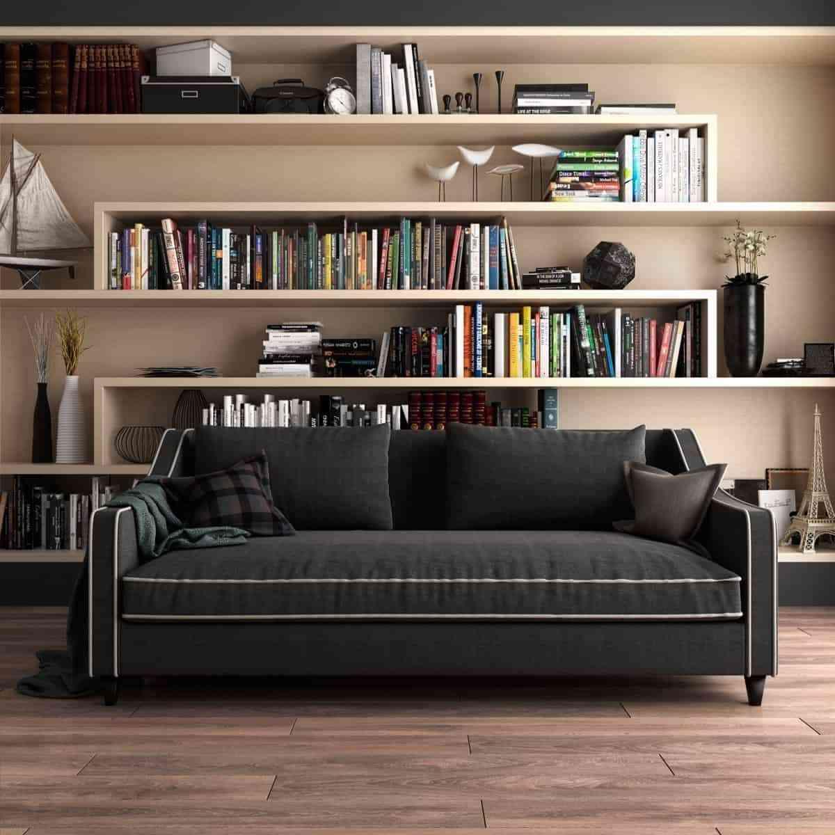 Tủ sách cho phòng khách sang trọng - showroom noi that nhap khau Modern bookcase