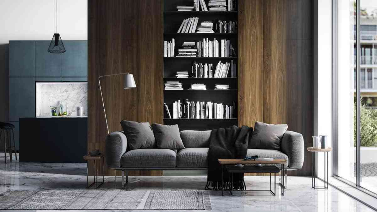 Tủ sách cho phòng khách sang trọng - showroom noi that nhap khau Tall bookcase