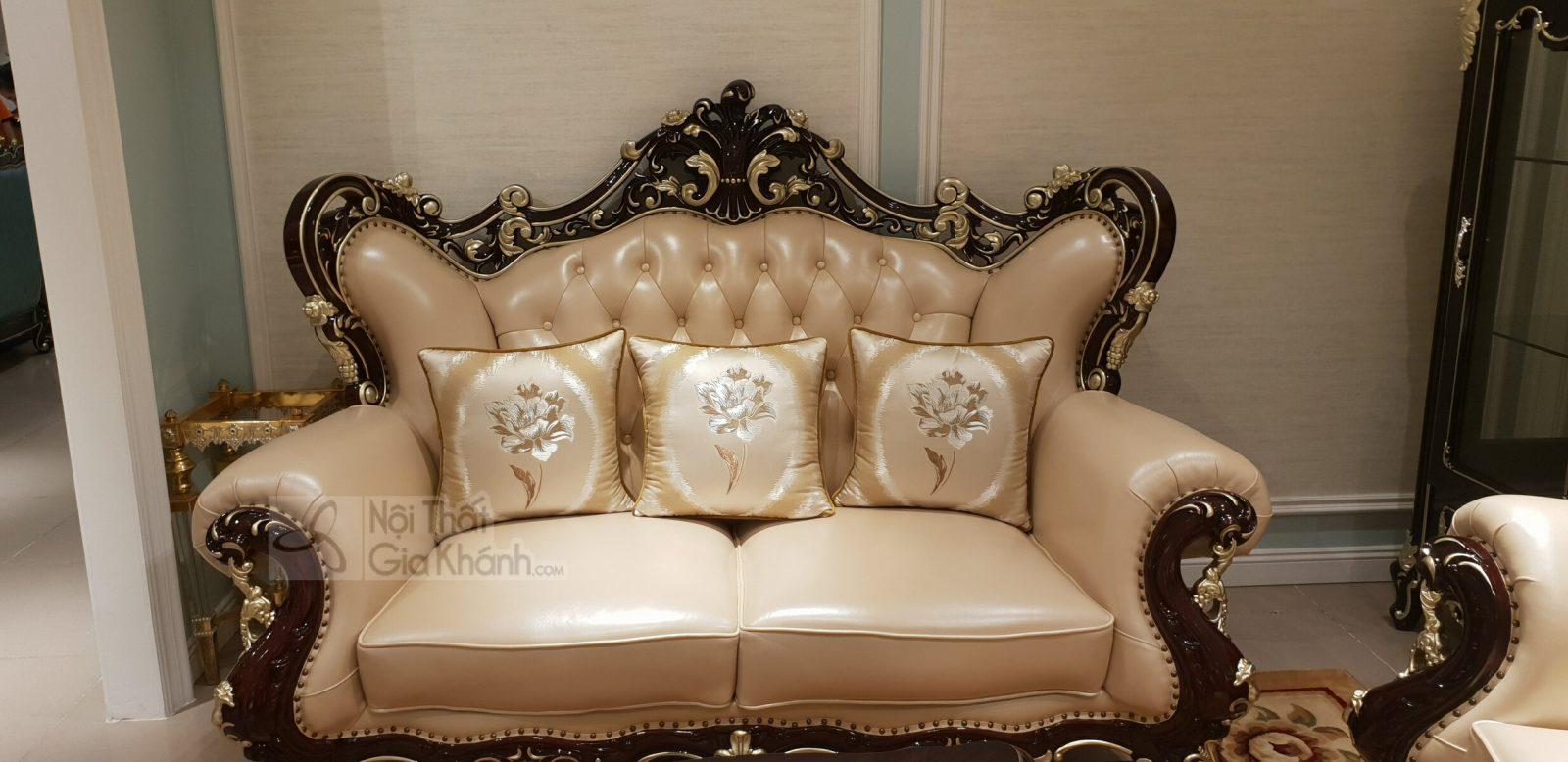 Sofa tân cổ điển da phong cách Pháp sang trọng SB921G-123