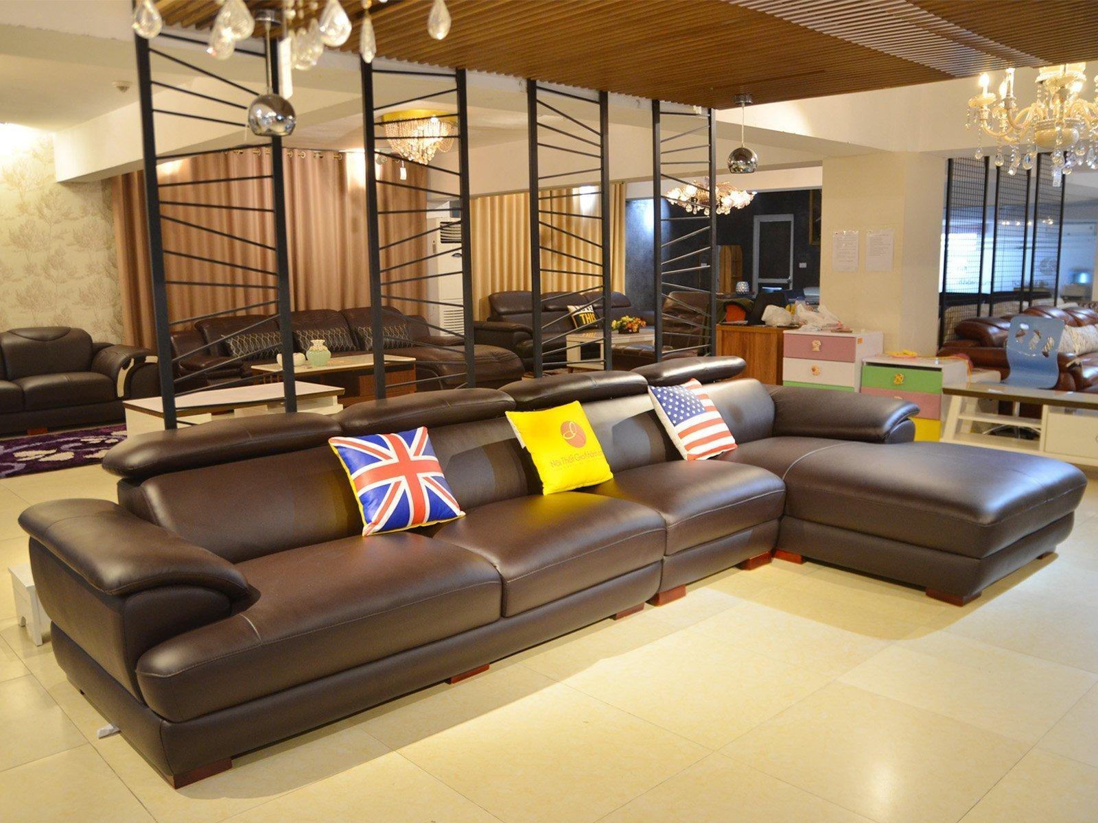 sofa da 9333SF 3 - Ghế sofa phòng khách hiện đại ST0933-3-A1