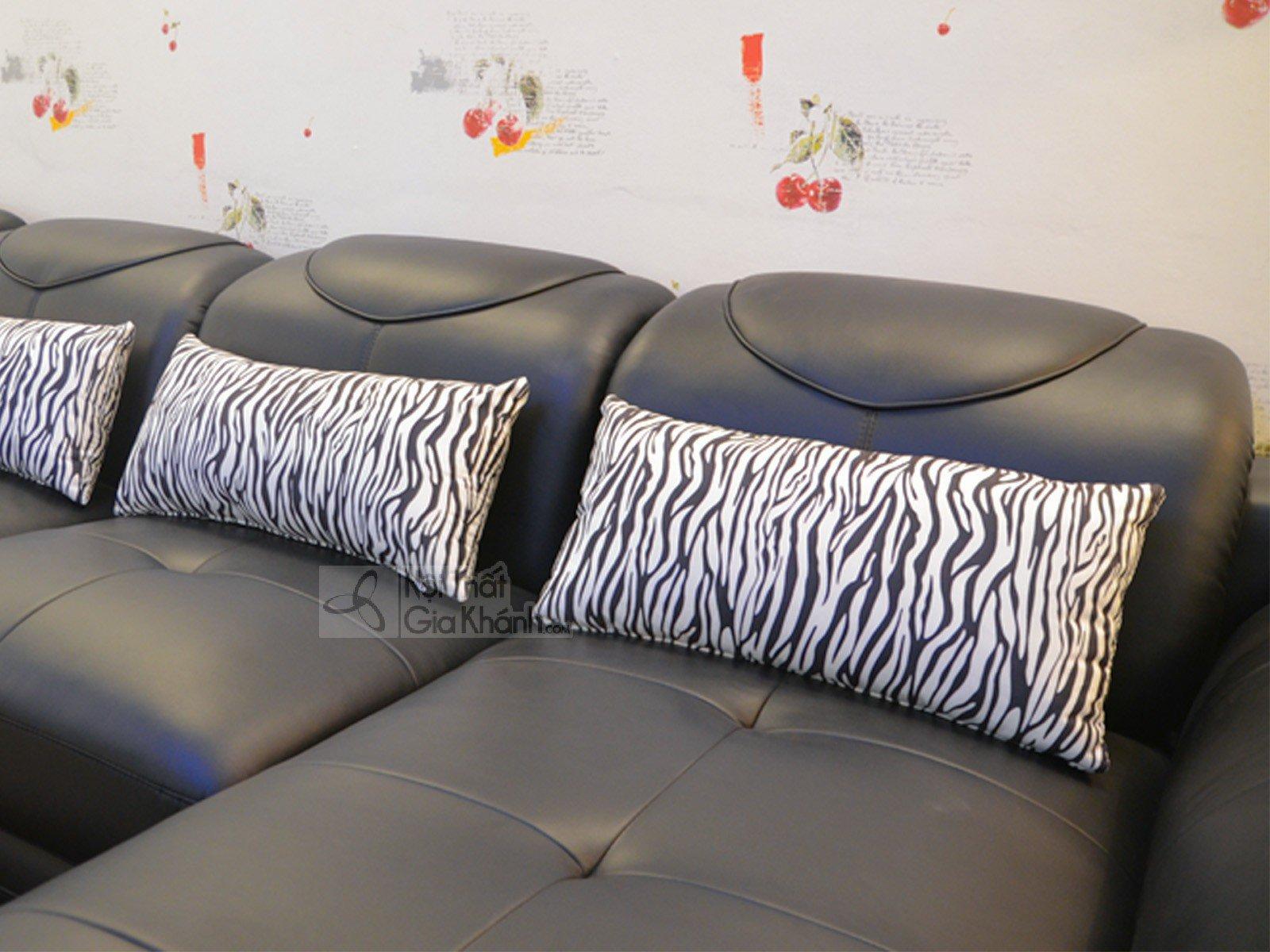 SOFA MÀU ĐEN 3 BĂNG GÓC PHẢI 9192D-SF - sofa da màu đen 919D 1