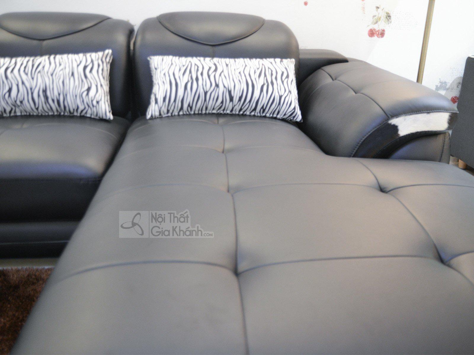 SOFA MÀU ĐEN 3 BĂNG GÓC PHẢI 9192D-SF - sofa da màu đen 919D 4