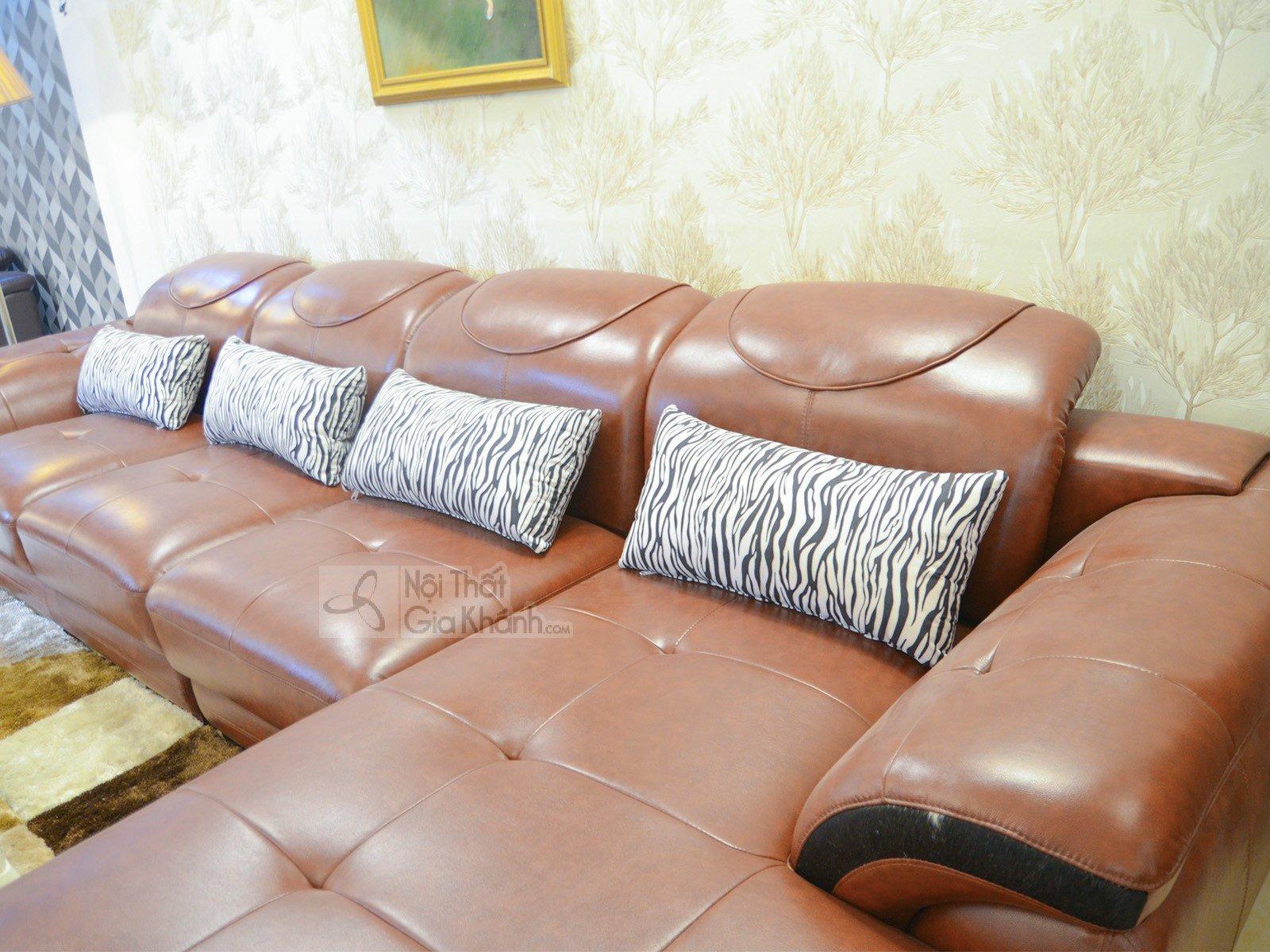 SOFA NÂU BÒ HIỆN ĐẠI 3 BĂNG GÓC TRÁI 9191B-SF - sofa da màu nâu bò 919B 1 1