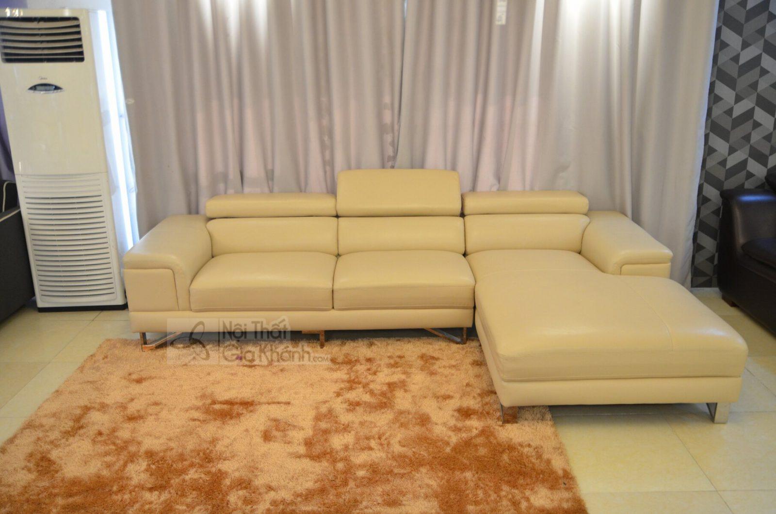 SOFA HIỆN ĐẠI GÓC TRÁI 2 BĂNG MÃ 1060SF2GT - sofa da màu vàng nhạt 1060SF 1900x1850 15