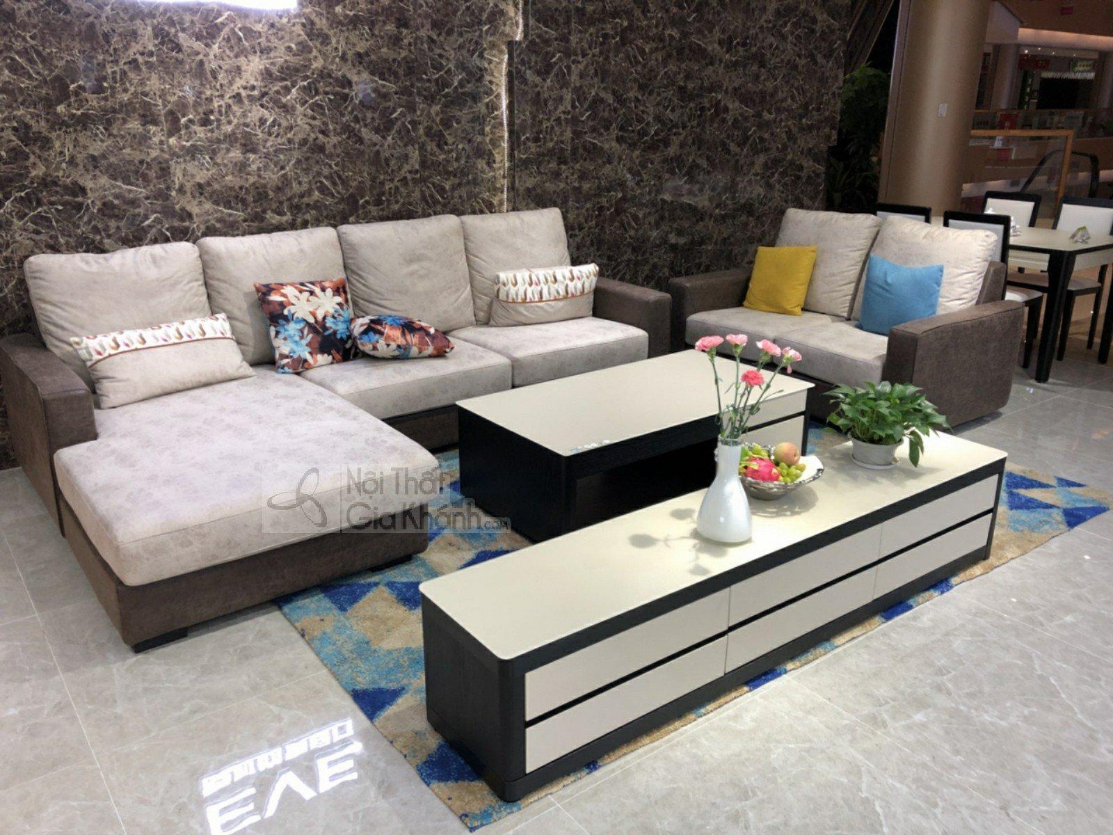 SOFA 2 BĂNG GÓC PHẢI NỈ NANO CHỐNG THẤM NƯỚC MR813A-SF - sofa da ni nano MR813A SF