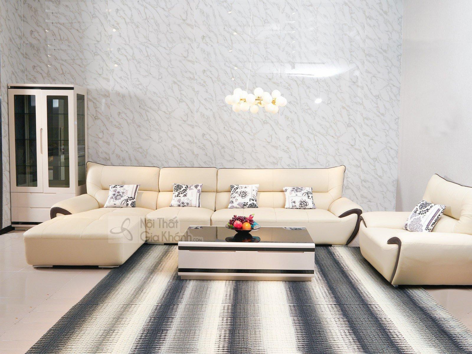 Bàn trà (Bàn sofa) gỗ phòng khách hiện đại mặt kính nhập khẩu 3311BT - sofa hien dai 3334SF 2 1 2