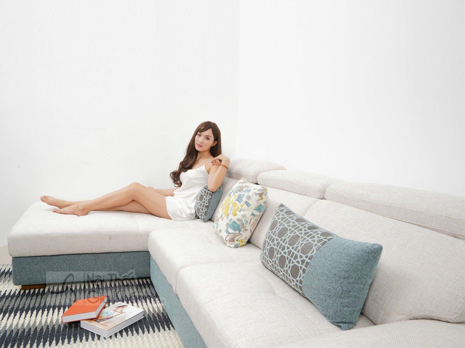 Bàn ghế Sofa vải nhập khẩu cao cấp 2 băng MR801C-SF - sofa hien dai MR801C SF 2900x1800x850 13