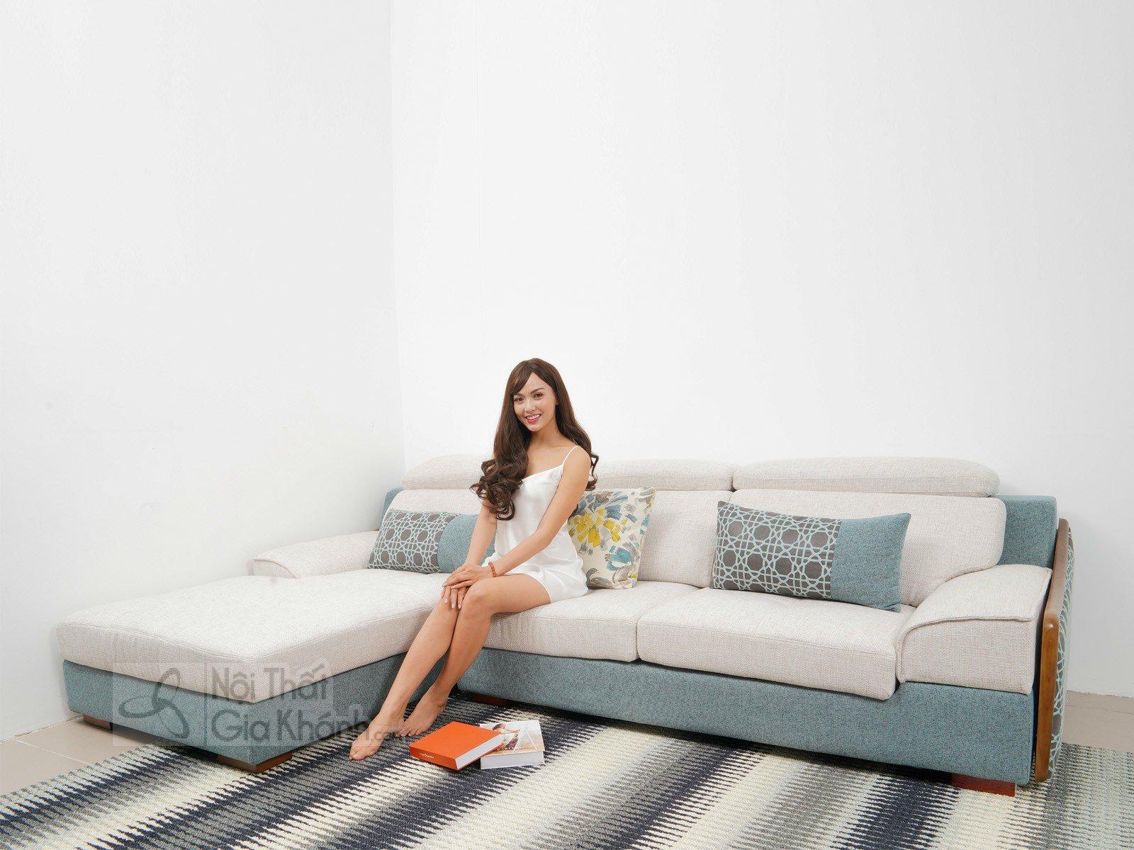 Bàn ghế Sofa vải nhập khẩu cao cấp 2 băng MR801C-SF - sofa hien dai MR801C SF 2900x1800x850 7