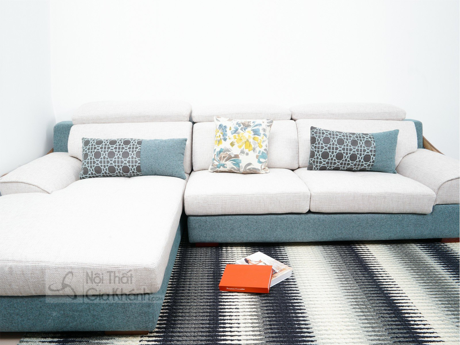 Bàn ghế Sofa vải nhập khẩu cao cấp 2 băng MR801C-SF - sofa hien dai MR801C SF 2900x1800x850 8
