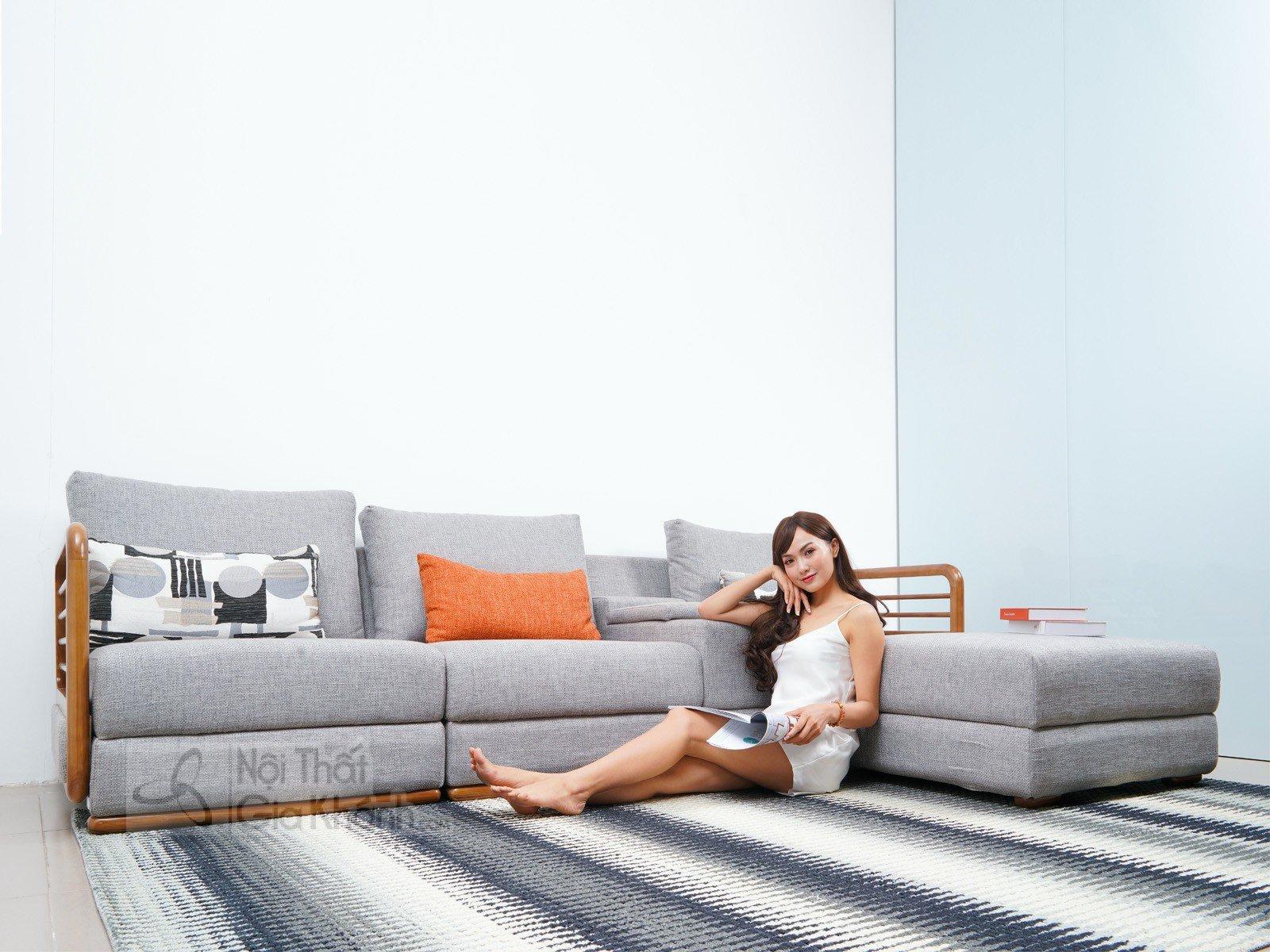 Sofa nỉ góc chữ L hiện đại SF309-2F - sofa hien dai MR808A 2700x1800x940 5