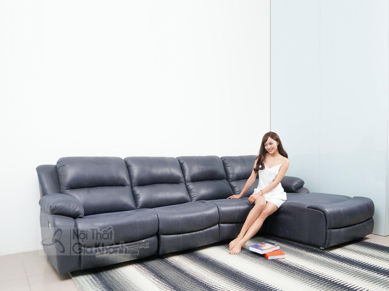 SOFA 3 BĂNG GÓC TRÁI NỈ NANO CÓ GHẾ NÂNG THƯ GIÃN MR843SF - sofa hien dai MR843SF 3200x1800x1000 7