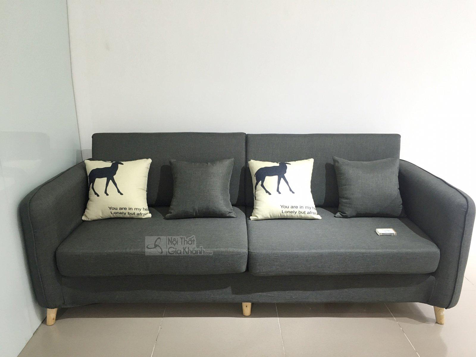 sofa màu den xam 8051SF - SOFA MINI KÍCH THƯỚC NHỎ GỌN MÀU XÁM ĐẬM 8051SF