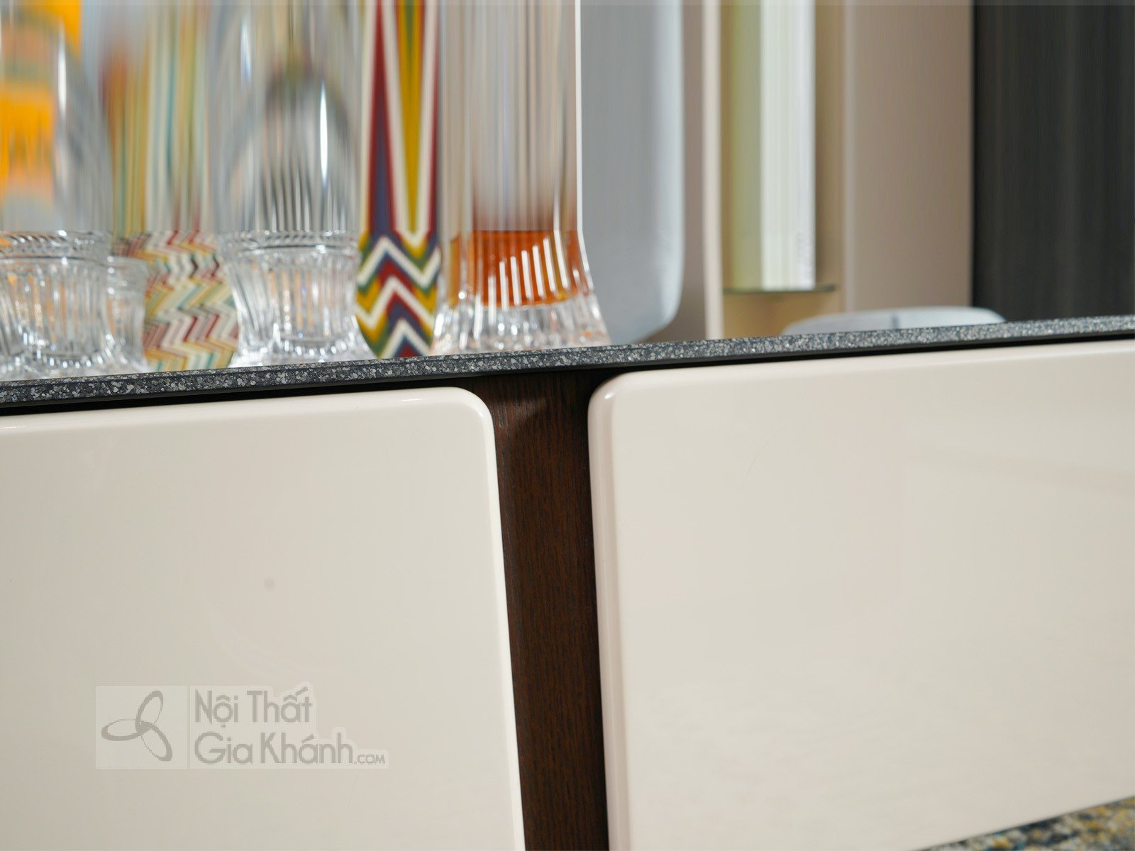 Bàn trà (Bàn Sofa) hiện đại phòng khách gỗ sồi mặt kính 3325BT - sofa ni hien dai 3342SF 4