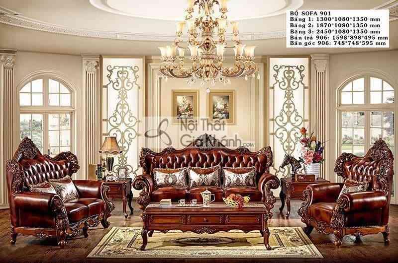 Các mẫu sofa tân cổ điển đăng cấp đáng mua nhất năm - sofa tan co dien 11