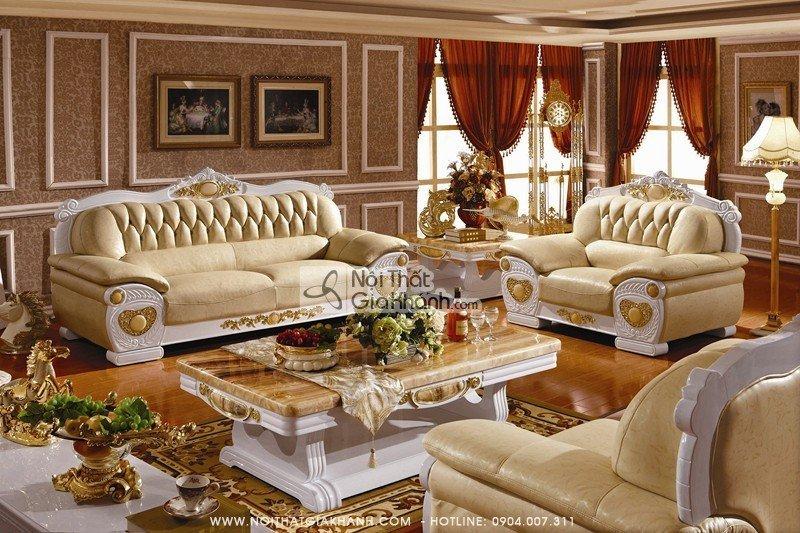 Các mẫu sofa tân cổ điển đăng cấp đáng mua nhất năm - sofa tan co dien 2