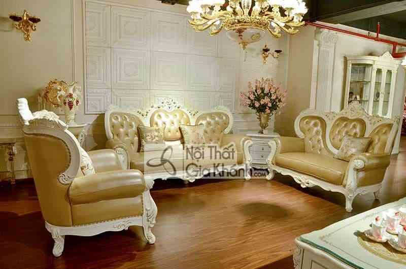 Các mẫu sofa tân cổ điển đăng cấp đáng mua nhất năm - sofa tan co dien 6