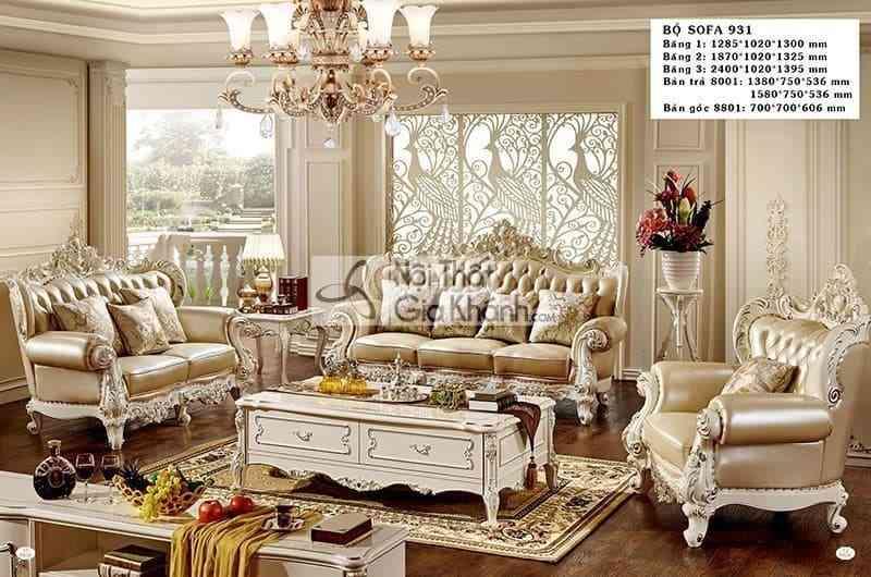 Các mẫu sofa tân cổ điển đăng cấp đáng mua nhất năm - sofa tan co dien 8