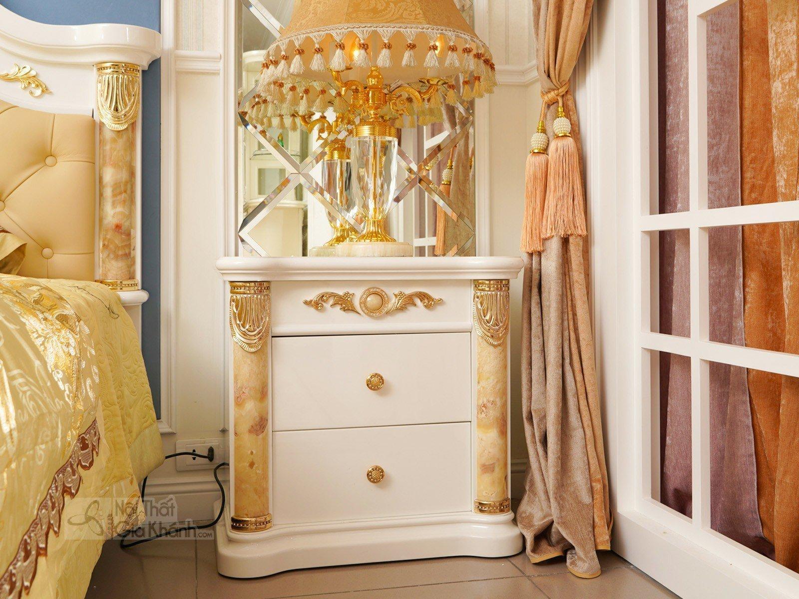Tủ đầu giường gỗ cao cấp phong cách hoàng gia TA3028