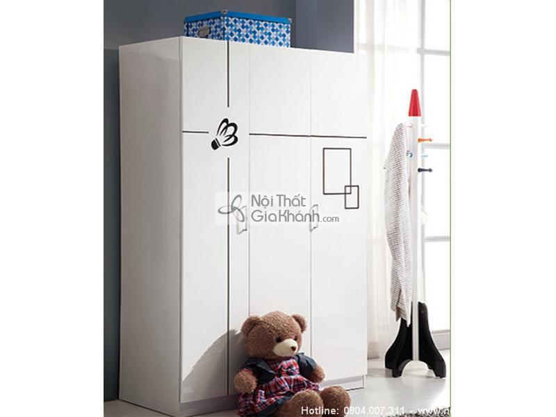 Tủ đựng quần áo trẻ em giá rẻ cho bé - tu ao 3 canh mau trang H830