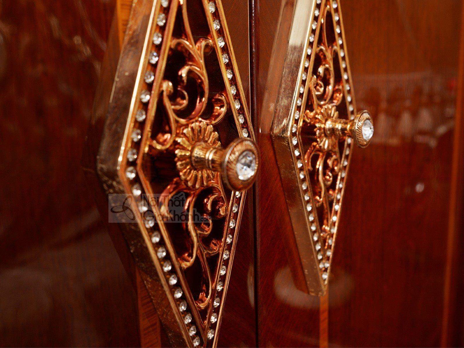 Tủ Áo 5 Cánh 3 Buồng Gỗ Phong Cách Cổ Điển TU509-5