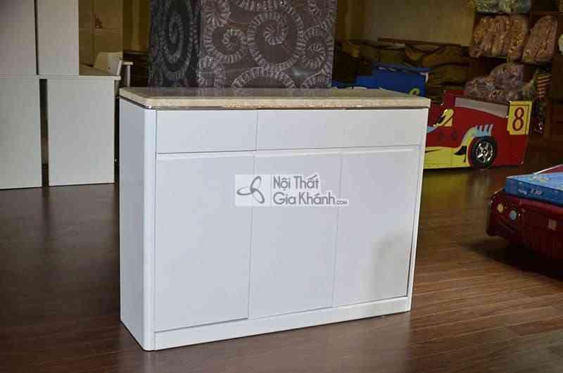 Tủ giày 3 cánh mặt đá công nghiệp 6130TG
