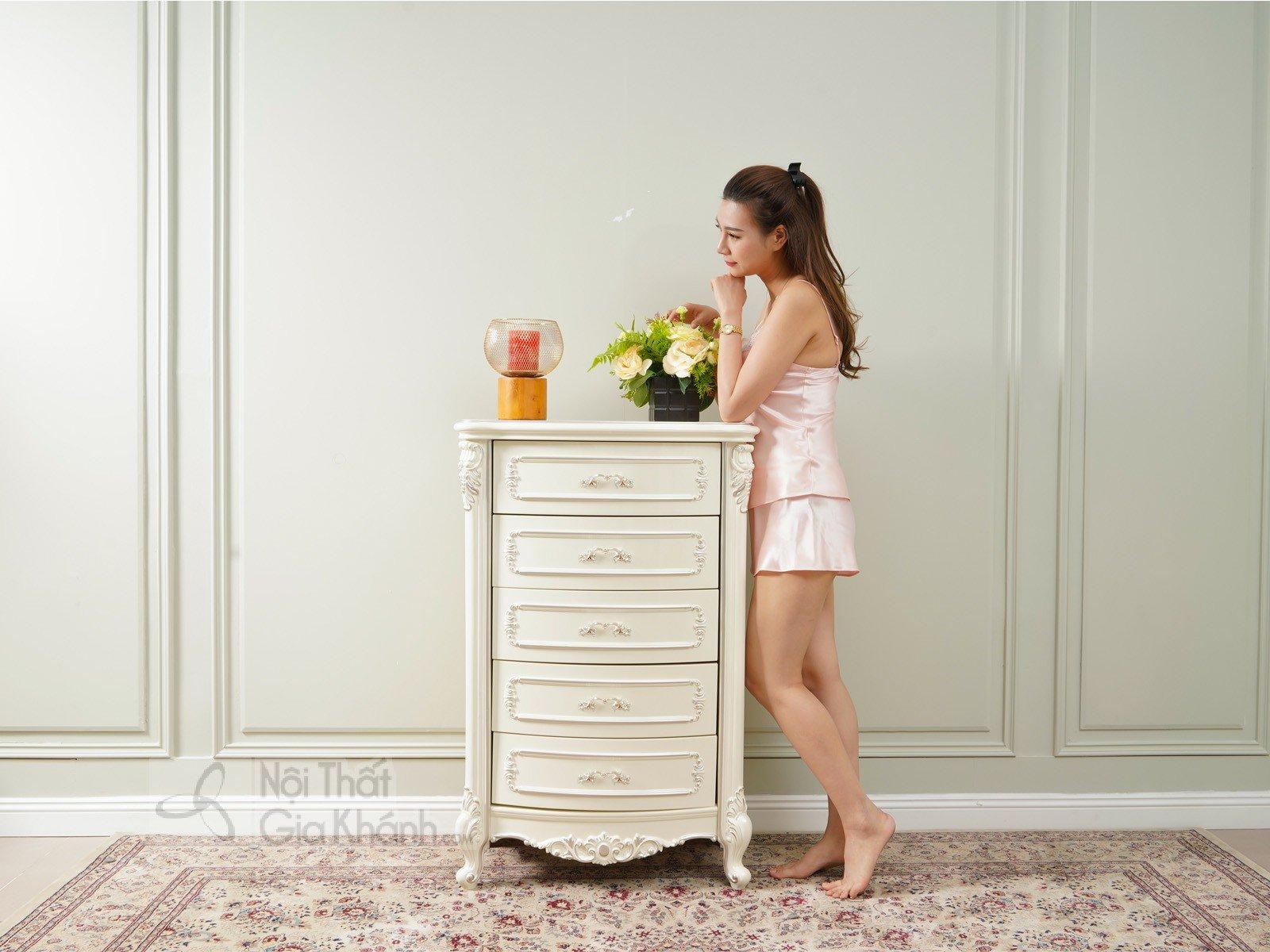 Tủ ngăn kéo 5 ngăn gỗ nhập khẩu TK8801H