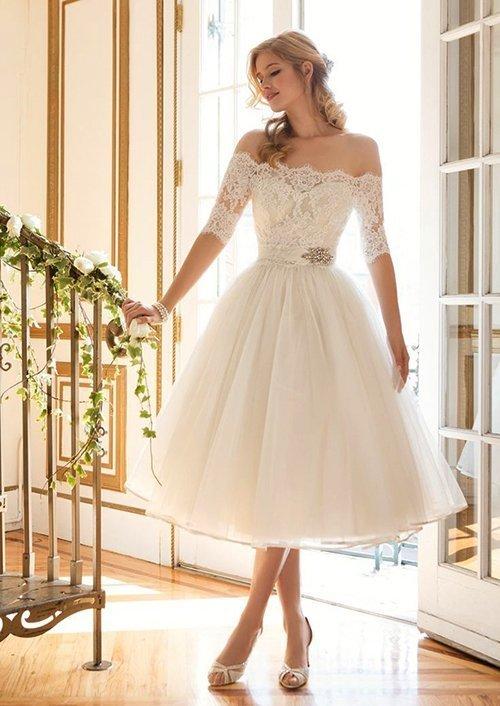 10 thiết kế váy cưới ngắn vừa trẻ trung nhưng vẫn sang trọng - vay lung