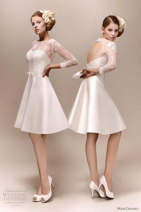 váy cưới ngắn hở lưng