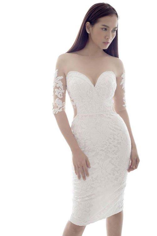 váy cưới ngắn ôm