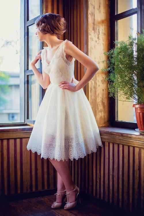 váy cưới ngắn đẹp quyến rũ
